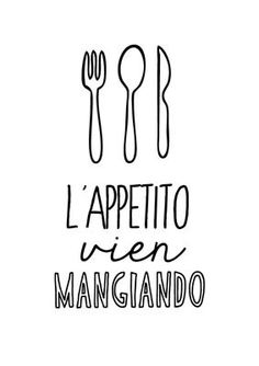 italian kitchen poster kitchen art print italian by ShufflePrints