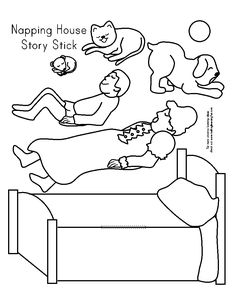 napping house coloring pages - the napping house color printable google search