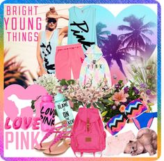 """""""Bright young things - pink"""" by fantasiegirl ❤ liked on Polyvore"""