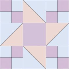 "Nice easy pattern that can be varied a lot by careful picking of colors.  TLC Home ""Quilted Friendship Star Quilt Pattern"""