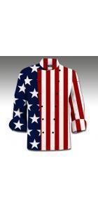 Stars & Stripes Chef Coat www.loudmouthgolf.com Made to Order Chef Coats! Chef Coats, Chefs, Chef Jackets, Stripes, Restaurant, Stars, Diner Restaurant, Sterne, Restaurants