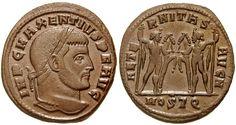 Roman coin minted in Ostia Antica (Rome).