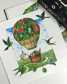 So nice! Enchanted Forest Book, Enchanted Forest Coloring Book, Colouring Pages, Coloring Books, Johanna Basford Secret Garden, Secret Garden Coloring Book, Johanna Basford Coloring Book, Copic Art, Polychromos