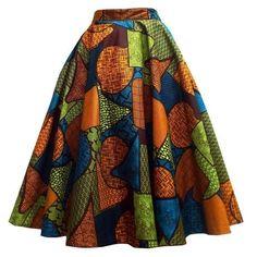 Gorgeous Ankara skirt in autumn colours African Fashion trends African Print Skirt, African Print Dresses, African Fabric, African Dress, African Clothes, African Prints, African Fashion Skirts, African Print Fashion, Skirt Fashion