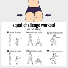 Acts Illaining Squat Challenge Workout Ofactsoftraining 60 Second Air Squats 60 Second Sumo Squats 30 Second Squat Pulses 60 Second Air Squats 60 Second Sumo Squats 30 Second Squat Pulses 💯 Fitness Workouts, Fitness Herausforderungen, At Home Workouts, Health Fitness, Pulse Squats, Air Squats, Squat Sport, Squat Workout, Boxing Workout