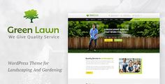 Green Lawn : Garding And Landscaping WP Theme . Green Lawn WordPress Theme is designed specially for Gardening, Landscaping Companies, Lawn Services, Agriculture, Landscape Architects and all type of Gardners Business and those who offer gardener related services. Green Lawn theme has beautiful and unique design that will be best suited for your