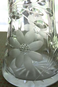 antique cut glass | Antique Vase American Brilliant Cut Glass by VintagebyViola