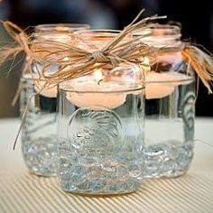 """rustic charm of mason jars"""