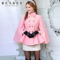 2063 outono e inverno rosa dupla parágrafo fivela de ouro casaco de lã para as mulheres casaco promoções C371L