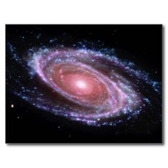 Shop Pink Spiral Galaxy Postcard created by yarddawg. Pink Galaxy, Galaxy Nails, Fine Art Prints, Framed Prints, Poster Prints, Spitzer Space Telescope, Spiral Galaxy, Science Photos, Light Year