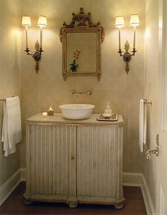 Decorations : Powder Room Decorating Ideas at Your House Guest Bathroom Ideas' Powder Room' Powder Room Designs plus Powder Room Makeovers' Small Powder Room Design' Decorations - Home Improvement and Remodeling Ideas Powder Room Vanity, Powder Room Wallpaper, Powder Room Decor, Powder Room Design, Powder Rooms, Bad Inspiration, Bathroom Inspiration, Interior Inspiration, Bathroom Ideas