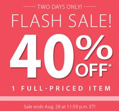Don't miss this FLASH SALE! Save 40% at PartyLite.com Offer ends Aug. 29 at 11:59 p.m. ET