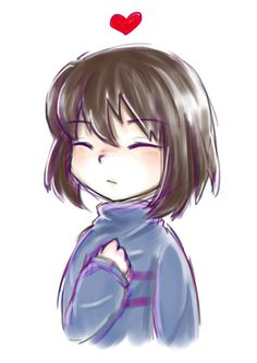 UT fanart - Frisk the human heart