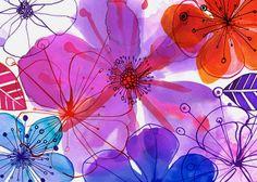 Margaret Berg : florals / spring: Purple Hibiscus