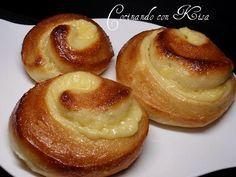 Cocinando con Kisa: Caracolas de crema y buttermilk (thermomix , chef o matic y horno tradicional)