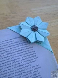 How to get children folding EASY ORIGAMI TULIPS. A great starting origami with only a few steps. Origami is a … Diy Origami, Origami Paper Folding, Origami And Kirigami, Paper Crafts Origami, Dollar Origami, Origami Ideas, Diy Bookmarks, Corner Bookmarks, How To Make Bookmarks