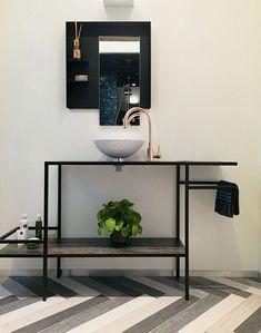 Handmade Bathroom Furniture In Steel Design By on Home Bathroom Ideas 1180 Handmade Bathroom Furniture, Classic Bathroom Furniture, Modern Bathrooms Interior, Contemporary Bathroom Designs, Rustic Bathroom Decor, Simple Bathroom, Dream Bathrooms, Amazing Bathrooms, Bathroom Vanity Makeover