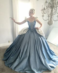 Designer Daddy is such an amazing costume maker. All the outfits he designs and dreates are breath taking. Love this version of Cinderella.