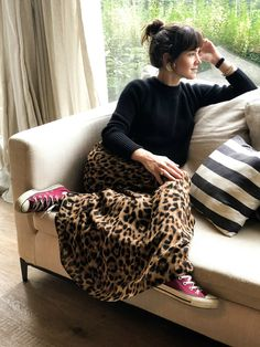 Printed Skirt Outfit, Skirt Outfits, Cool Outfits, Animal Print Skirt, Leopard Print Skirt, Fall Winter Outfits, Autumn Winter Fashion, Winter Clothes, Modest Fashion