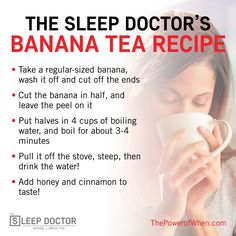 You all loved my banana tea recipe mentioned during The Sleep Success Summit! Here's the recipe for those who missed it. It's packed with magnesium, perfect for a solid night's sleep. More in my new book, The Power of When. http://amzn.to/2c4Wil7  #bananatearecipe #recipesforbettersleep #thepowerofwhen