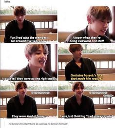 okay people talk about tae being dumb but look at this whole situation. the boys were messing with him, lying to him for a prank. and he figured it out, like right at the beginning he figured out that they were lying. and he started acting like he believed it and do you see how good of an actor this boy is oh my god. like namjoon said, he's either an idiot or a genius
