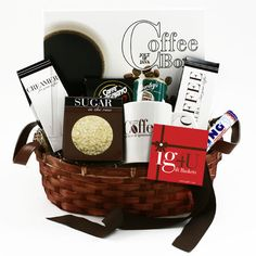 Coffee Sampler Gift Basket by Gift this Ultimate Coffee Lover's basket beautifully designed and full of international coffees and sweets. Featuring fourunique coffees from around the world, a perfect breakfast blend, Mocha Java . Tea Gifts, Coffee Gifts, Coffee Drinks, Coffee Gift Baskets, Holiday Gift Baskets, Basket Gift, Gourmet Gifts, Food Gifts, Biscoff Cookies