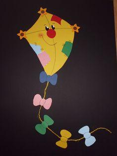 Spring Crafts For Kids, Paper Crafts For Kids, Diy And Crafts, Paper Flowers Craft, Flower Crafts, Classroom Crafts, Preschool Crafts, Labor Day Crafts, Kites Craft