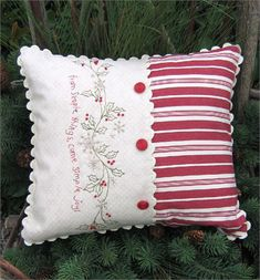 Sewing Pillows, Diy Pillows, Decorative Pillows, Throw Pillows, Pillow Ideas, Embroidery Patterns, Hand Embroidery, Machine Embroidery, Fabric Crafts