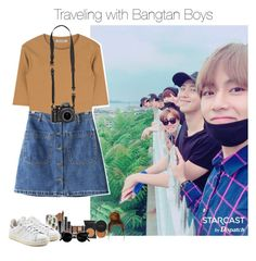 """""""traveling with bts."""" by jk-jaylene ❤ liked on Polyvore featuring Casetify, Chicnova Fashion and adidas Originals"""