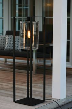 DOME - Floor-standing lamp / contemporary / aluminum / glass by Royal Botania Modern Patio Furniture, Floor Standing Lamps, Light Decorations, Black Floor Lamp, Lamp, Floor Lamp, Outdoor Floor Lamps, Contemporary Outdoor Lighting, Floor Lamp Lighting