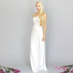 floor length silk slip dress - Google Search
