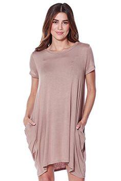 A D Womens Short Sleeve Knit Dress W/…