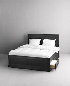 Fjell Bed Frame With Storage, Black