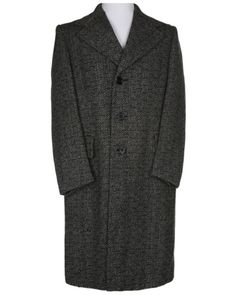 A stylish Aquascutum Black & Grey Wool Overcoat, also from Rokit.