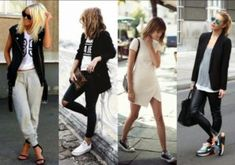 Consigue un look athleisure perfecto: el street style manda Athleisure Trend, Athleisure Fashion, Athleisure Outfits, Latest Indian Fashion Trends, 2015 Fashion Trends, Latest Fashion, Moda Indiana, Dress With Converse, Trends 2016