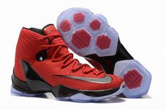outlet store 22774 63323 Latest and Cheapest Lebron 13 XIII Elite Team University Red Black