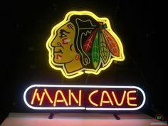 Man Cave Chicago Blackhawks Neon Sign NHL Teams Neon Light