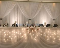 I think this is so nifty! Fairy Light Head Table Decoration Kit - 16 Foot (8 Person) [EDD-HT-FAIRY16]