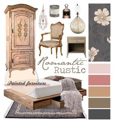 """Romantic Rustic"" by ladomna ❤ liked on Polyvore featuring interior, interiors, interior design, home, home decor, interior decorating, MASH Studios, Best Home Fashion, Avignon and Graham & Brown"