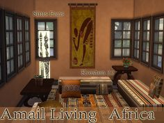 Amali Living African Collections by Kresten 22 at Sims Fans via Sims 4 Updates  Check more at http://sims4updates.net/furniture/amali-living-african-collections-by-kresten-22-at-sims-fans/