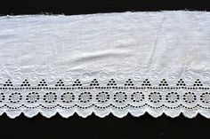 """48""""  (1.5yds) Partially Untrimmed Embroidered Eyelet Lace Trim/Edging L18 by EBMNewhaven on Etsy"""