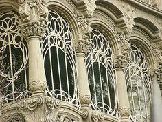 Torino ~ Villa Scott - Liberty Window 1902