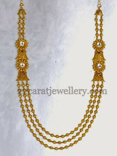 Jewellery Designs: Joyalukkas Simple Beads Haram