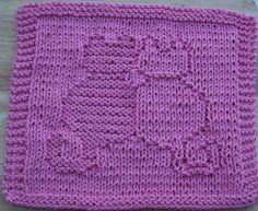 Snuggling Cats Knit Dishcloth pattern by Lisa Millan