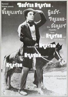 "Our Hospitality, w/ pre-program The Frozen North [""Verflixte Gastfreundschaft,"" Vorprogramm: ""Im hohen Norden""] (John G. Blystone & Buster Keaton, 1923; Edward F. Cline, 1922; German poster), designed by Hans Hillmann, 1974"