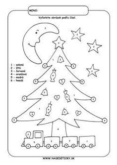 Výsledok vyhľadávania obrázkov pre dopyt pracovný list pre predskolákov Bullet Journal, Advent, Christmas, Color, Number, Xmas, Colour, Navidad, Noel