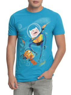 8466233a70039 Adventure Time Finn   Jake Space Blasters T-Shirt