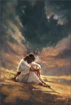 In prayer.