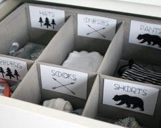 Modern Printable Baby Nursery Drawer by ArthurCustomGraphics
