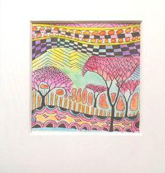 Abstrakte Miniatur Landschaft ORIGINAL von Art Du Soleil auf DaWanda.com